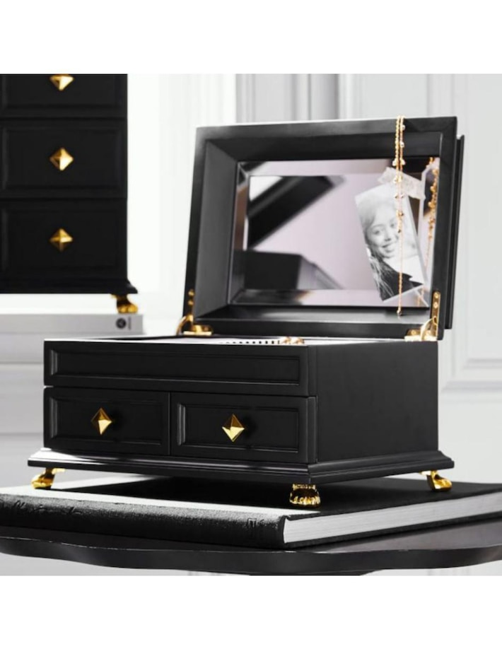Joyero Negro Box Collection Emily & Meritt