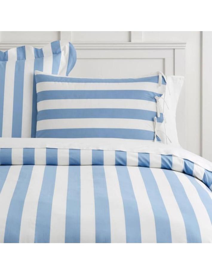 Duvet o Funda para Cojín Azul Marino Pajama Stripe Emily & Meritt