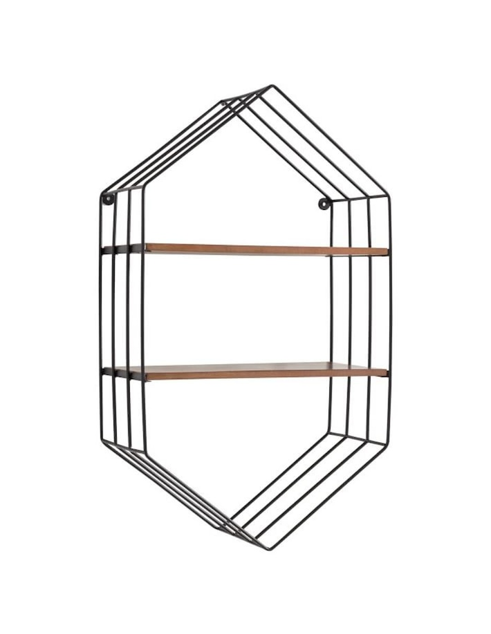 Repisa Wood and Wire Hexagon